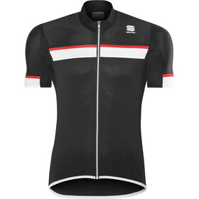 Sportful Pista SS Jersey Herren black/white-red